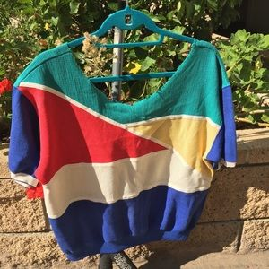 Vintage colorblocked sweater
